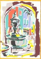 CP édition :C.R. Paris-St.Paul De Vence: Aquarelle De Richter - Pittura & Quadri