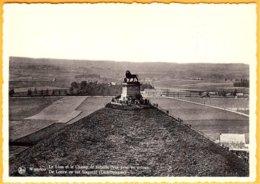 CP Belgique-édit.: THILL -Waterloo-le Lion Et Le Champ De Bataille,vue Prise En Avion + Verso Grand Hôtel Du Lion - Monuments
