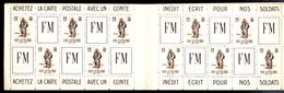 RARE Carnet Complet De 20 Vignettes** Des Armées, FM Franchise  Militaire Infanterie Militaria 1940 - Carnets