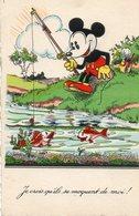 Walt Disney-Mickey Mouse Pêcheur. - Other