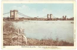 Cpa Rognonas - Pont Suspendu Sur La Durance - France