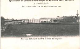 HUYSSINGHEN    Agrandissement Des Usines De La Société Moteurs à Gaz A.Bollinckx. - Huldenberg