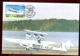 Alderney - Carte Maximum 1985 - Aviation - Alderney