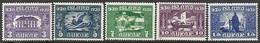 Iceland   1930  Sc#152-6   5 Diff  MH  2016 Scott Value $29.25 - 1918-1944 Autonomous Administration