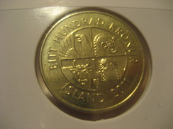 100 Kr 2011 Fish ICELAND Islande Good Condition Coin - Islande