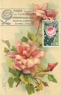 KLEIN CATHARINA (illustrateur) -  Fleurs Rose ,Paris Floralies,carte Maximum. - Klein, Catharina