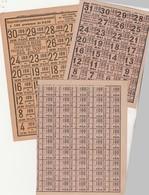 Lot N° 4 / Ensemble De 3 Planches Différentes De Tickets De Rationnement Non Utilisées / Ministère Ravitaillement - 1914-18