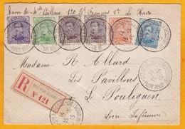 1915 - Enveloppe Recommandée De Sainte Adresse, France Vers Le Pouliguen - Gouvernt Belge En Exil - Guerre 14-18