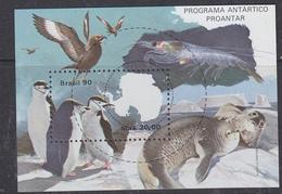 Brazil 1990 Proantar / Antarctica M/s ** Mnh (40975) - Blokken & Velletjes