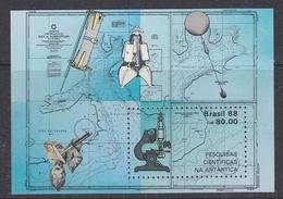 Brazil 1988 Antarctica M/s ** Mnh (40975A) - Blokken & Velletjes
