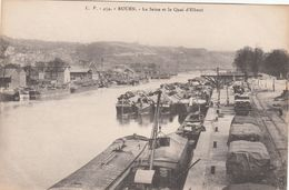 Cp , 76 , ROUEN , La Seine Et Le Quai D'Elbeuf - Rouen