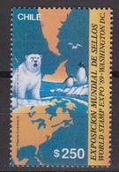 Chile 1989 World Stamp Expo '89 Washington / Icebaer / South Pole 1v ** Mnh (40975C) - Postzegels