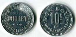 N93-0526 - Monnaie De Nécessité - Chauffailles - Pharmacie Puillet - 10 Centimes - Monetary / Of Necessity