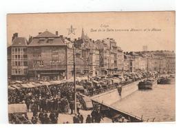 Liége. Quai De La Batte (ancienne Maison) Et La Meuse (Marché) - Liege