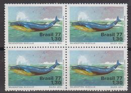 Brazil 1977 Blue Whale 1v Bl Of 4 ** Mnh (40976A) - Brazilië