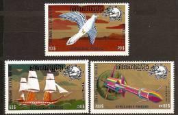 CAMBODIA KMHERE 1974 - Centennial UPU / Universal Postal Union - 3v Mi 400A-402A MNH ** Q599 - Cambodia