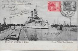 ARGENTINE-El Jowa Entrando Al Dique Puerto Militar-MO - Argentina