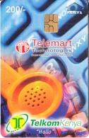 KENYA - Telemart Technologies, Telecom Kenya Telecard 200/-, Chip GEM3.3, Exp.date 31/12/00, Used - Kenia