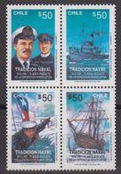 Chile 1991 Tradicion Naval / Antarctica 4v ** Mnh (40977) - Chile