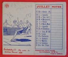 Calendrier 1932 Pub DTM Tennis Corsets Ceintures Soutiens-gorges Mlle Beguet Bonneterie à Bourg - Petit Format : 1921-40
