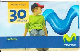 NICARAGUA - Child & Telecom Logo, Movistar By Telefonica Prepaid Card 30 Cordobas, 02/07, Used - Nicaragua