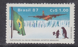 Brazil 1987 Antarctica 1v ** Mnh (40977A) - Brazilië