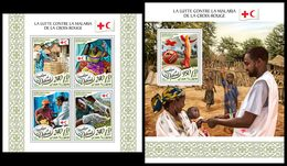 DJIBOUTI 2017 - Malaria Mosquito - YT 1664-7 + BF224; CV=40 € - Insecten