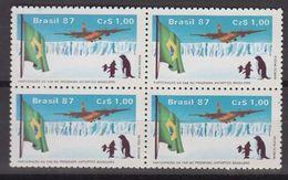 Brazil 1987 Antarctica 1v Bl Of 4 ** Mnh (40977B) - Brazilië