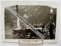 Balsièges 48 Lozère Voiture Auto Amilcar ? 1932 Pompe à Essence Energol Station Service Belle Photo Originale - Automobiles