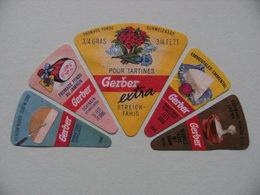 Etiquette Fromage Fondu - 5 Portions Gerber Diverses - Suisse  A Voir ! - Cheese