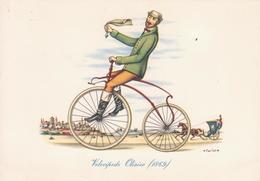 REPUBBLICA DEI RAGAZZI - VILLAGGI DEL FANCIULLO - IL VELOCIPEDE Serie 1a - VELOCIPEDE OLIVIER 1869  Illustrazione CARLOR - Illustrators & Photographers