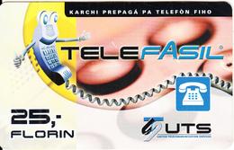 CURACAO - TeleFasil, UTS Prepaid Card 25 Fl, Exp.date 31/12/03, Used - Antilles (Netherlands)