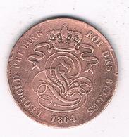 2 CENTIMES  1864   BELGIE /6818/ - 1831-1865: Leopold I