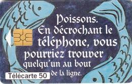 Telecarte FRANCE  -  POISSON - Astronomie