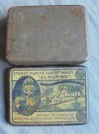 Empty Tin Can For Tobacco EL MARINO 1910  Appr 11 X 8 X 3 Cm VGC  (2 Scans ) - Caves à Cigares Vides