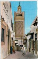 TUNIS    LA  GRANDE  MOSQUEE     2 SCAN      (VIAGGIATA) - Tunisia
