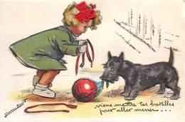 BOURET-GERMAINE- CARTE EN RELIEF ET PAILLETTES - Bouret, Germaine