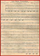 Les Deux Triomphes. Poème De Charles Guéret. Air Chanté Par M. Franz. Musique De D. De Sévirac. 1910 - Partitions Musicales Anciennes