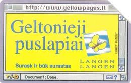 Telecarte LIETUVOS -  PAPILLON - Cars