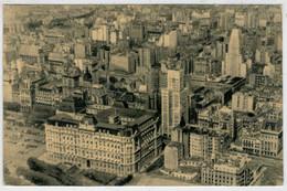 VISTA  AEREA    DE  BUENOS  AIRES    1950         2 SCAN      (VIAGGIATA) - Argentina