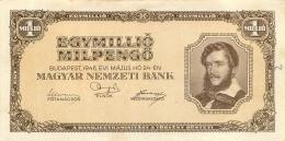 BILLET HONGRIE 1946   1 MILLIO  EGY MILLIO  MILPENGO - Hungary