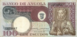 BILLET  ANGOLA 1973    100 ESCUDOS - Angola