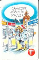 HONG KONG - Christmas 1993, Hong Kong Telecom Telecard $50, 12/93, Used - Hong Kong