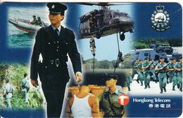 HONG KONG - Royal Hong Kong Police 3, HKT Prepaid Card $100, Used - Hong Kong