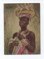 PC1950s SOUTH AFRICA ETHNIC BLACK NATIVE GIRL Corn Cob SUID AFRIKA KENT COTTRELL - Afrique Du Sud
