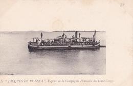 """CONGO  Le """" JACQUES DE BRAZZA """" Vapeur De La Compagnie Francaise Du Haut Congo - Congo Francese - Altri"""