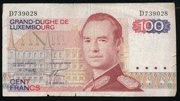 LËTZEBUERG   100 HONNERT FRANC 14 AOUT 1980  2 SCANS - Luxembourg