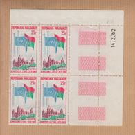 """MADAGASCAR Neuf  Lot De 2 Blocs  De 4  Coin Date Les 14 Et 19 2 1960  """" Nations Unies 25F Et 85F """" YT Num 362 Et 363 - Madagascar (1960-...)"""