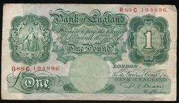 BANK OF ENGLAND  ONE POND - 1952-… : Elizabeth II