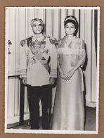 AC -  REZA SHAH PAHLAVI & WIFE VINTAGE PHOTOGRAPH - Iran